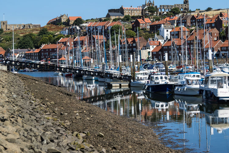 Boats in Whitby Harbour Boats Harbour Harbour View Holiday North Yourkshire Sunshine Whitby Whitby Abbey Whitby Harbour Yorkshire