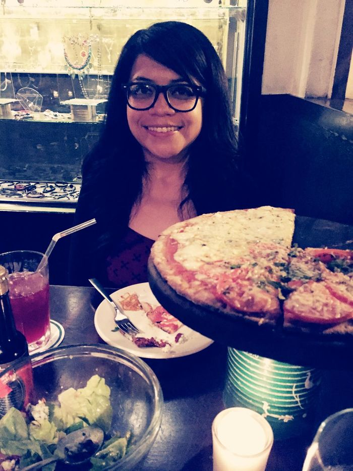 Love ♥ Pizza She's the one makes my heart beat. 😍❤️