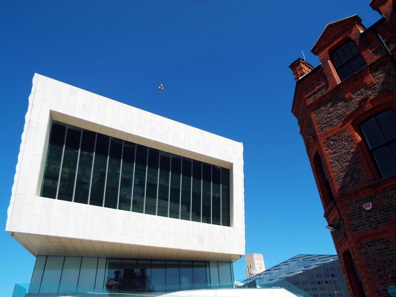 architecture, building exterior, built structure, clear sky, low angle view, day, outdoors, no people, blue, city, nature, sky