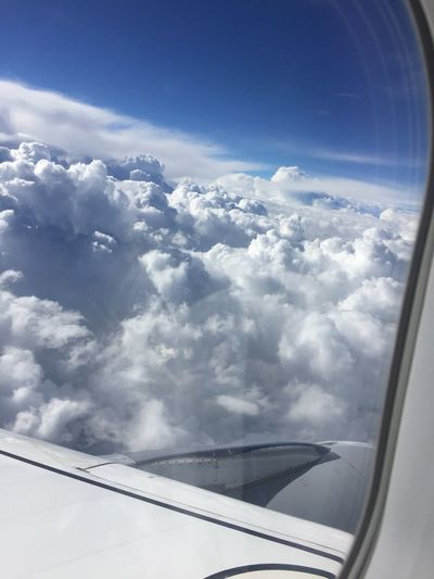 Just usual clouds... Cloud Clouds Plane I'm Flying Sunday Travel