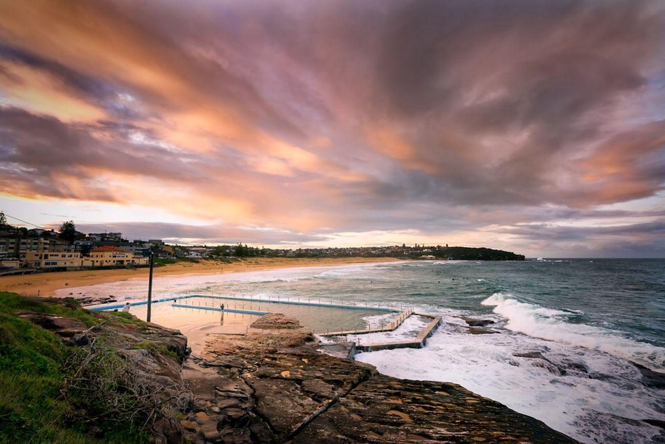 Magenta Dusk @ South Curl Curl Landscape Seascapes Swimmingpool Waves