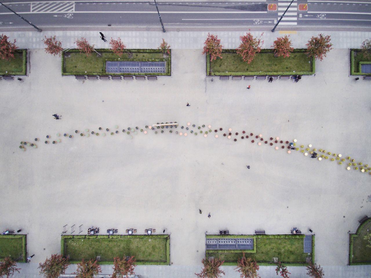Dronephotography Drone  Plaza City Above Pattern Cityscape