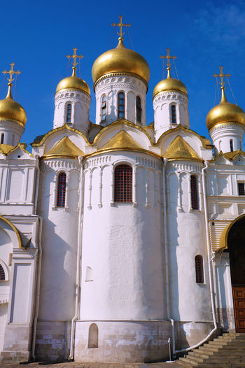 2014 Architecture Cathedral Of The Annunciation Church Cremlin Dome Gold Kremlin And Red Square Moscow Red Square World Heritage Russia Russia Orthodox Church Sky Благовещенский собор красная площадь ブラゴヴェシェンスキー大聖堂 モスクワ ロシア 教会 生神女福音大聖堂 赤の広場