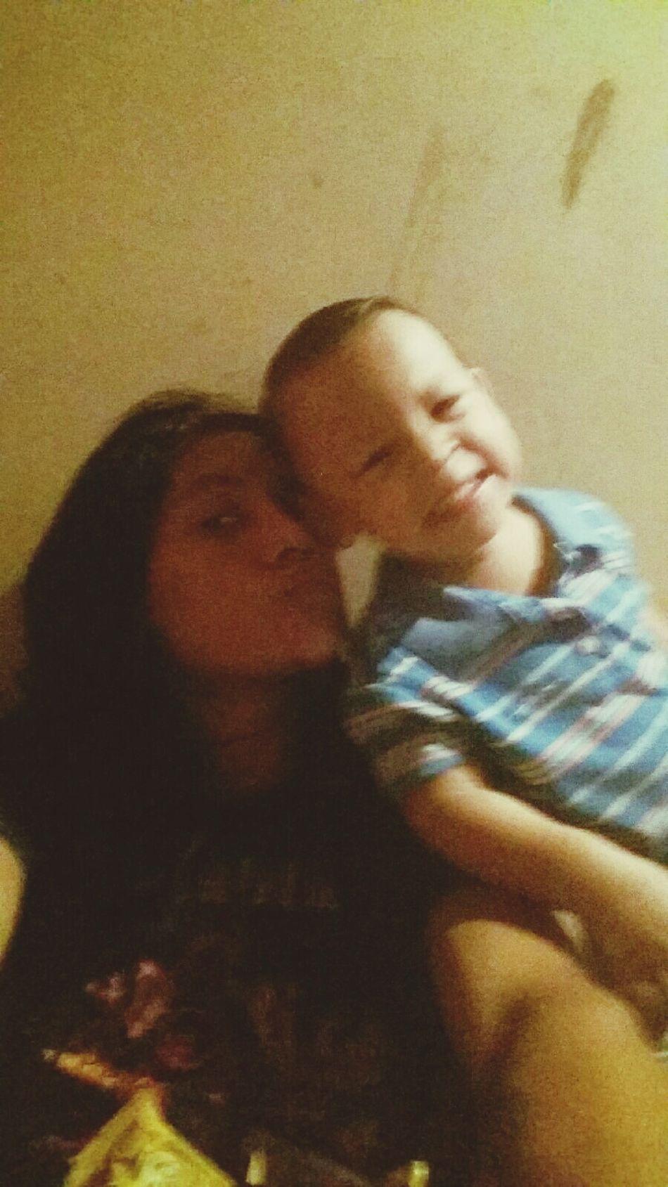 Con mi pequeño amigo