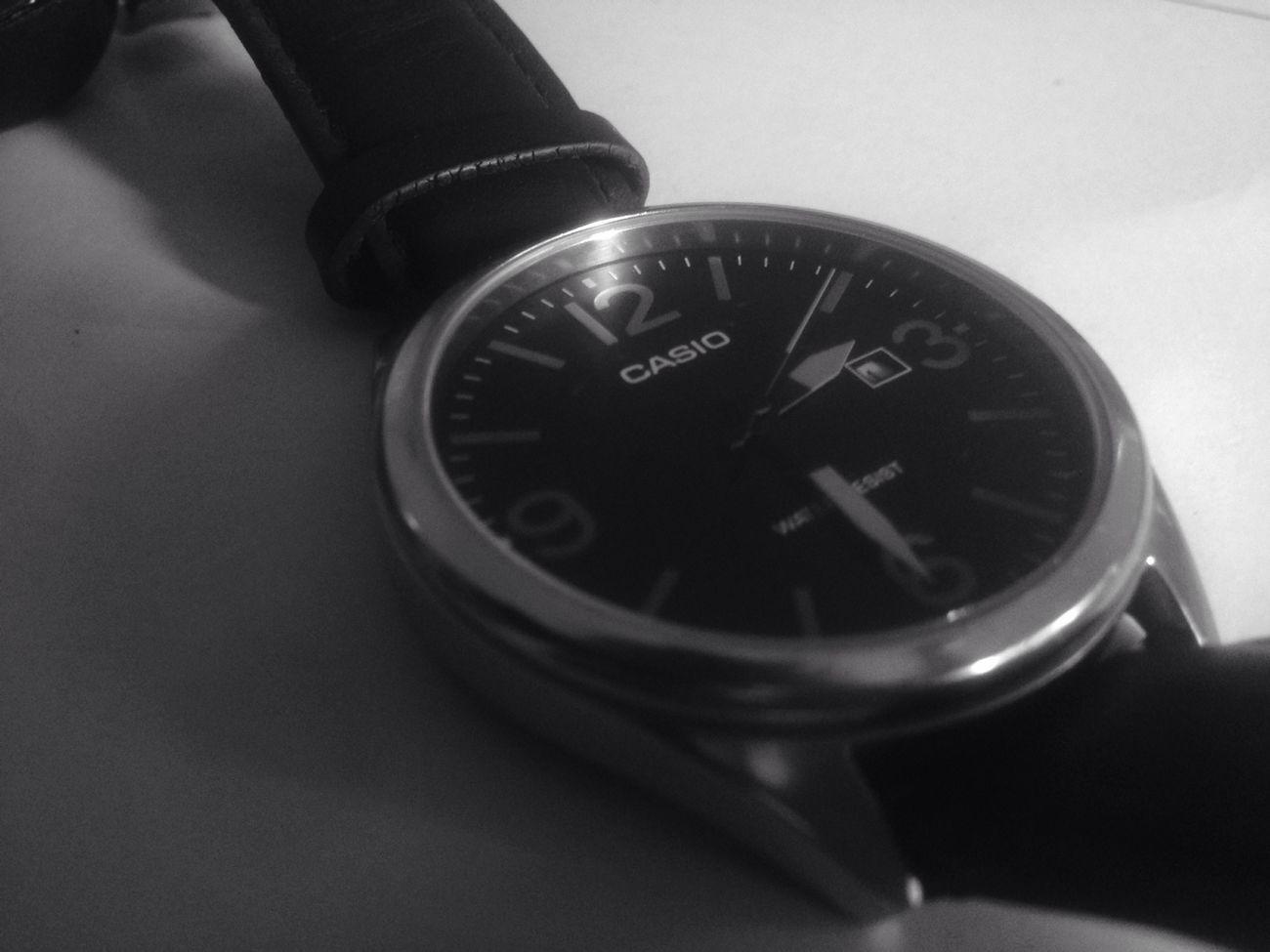 Black And White Casio Watch