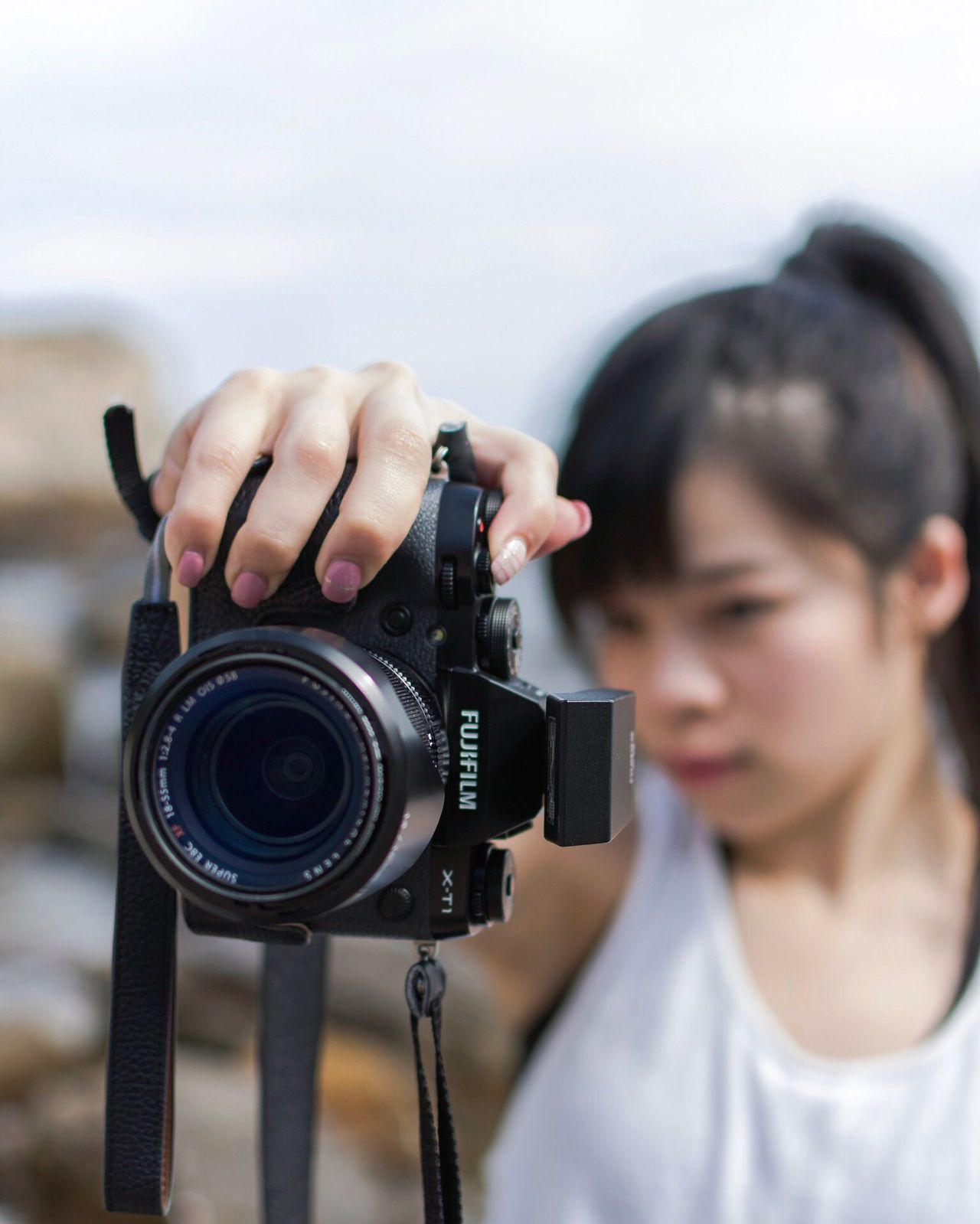 Camera - Photographic Equipment Photography Themes Professional Occupation Holding Close-up Women Photographing Photographer Lens - Eye
