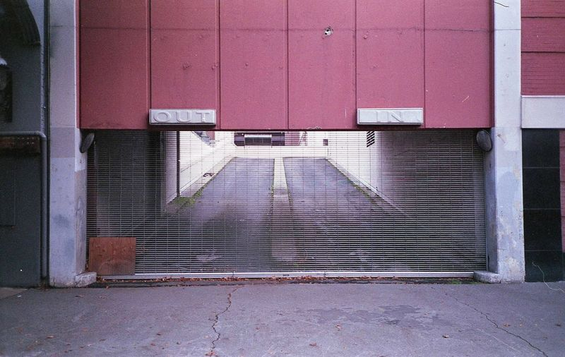 Sacramento 2016. Urban Landscape In Out Built Structure Closed No People Architecture The Way Forward Day Building Exterior Outdoors Film Photography