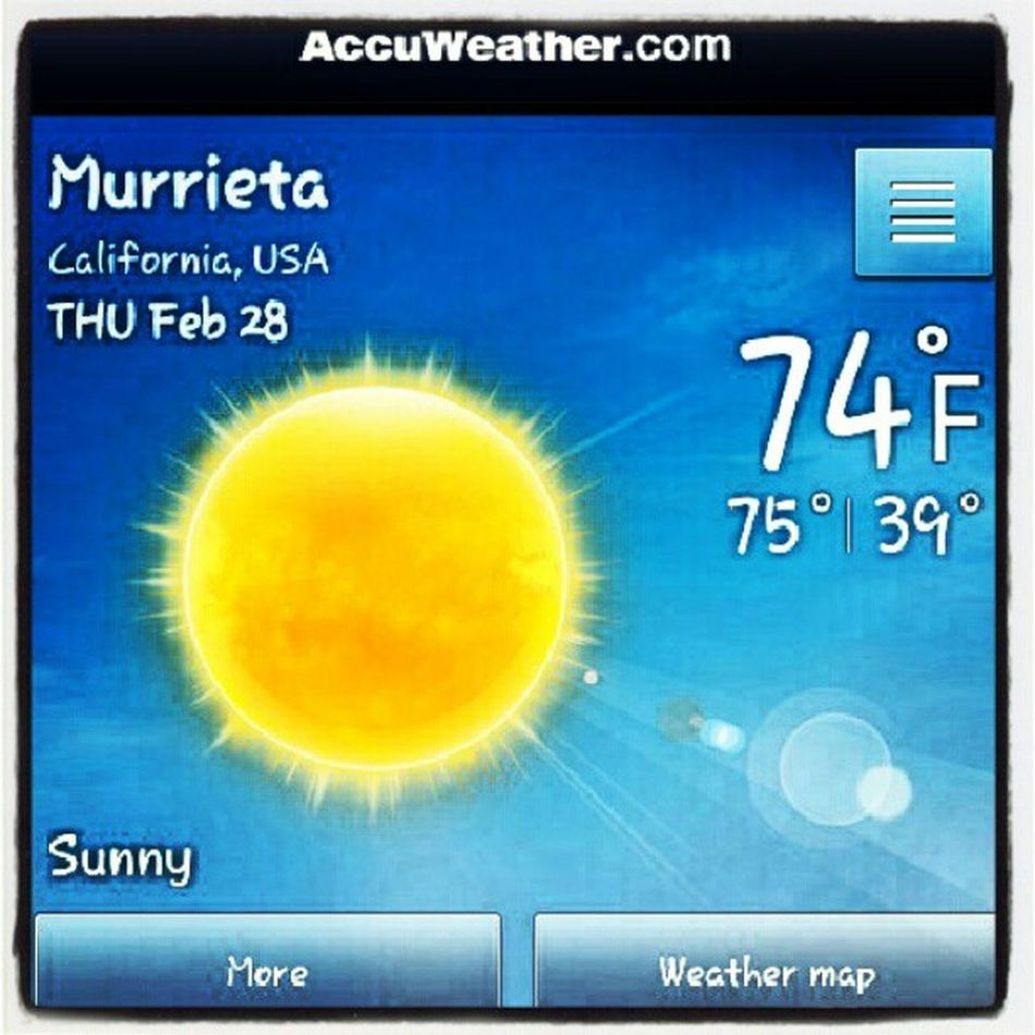 Such a gorgeous day! Sucks that I have to head into work now! Sunshine SoCal Bejealous Off work tomorrow though!