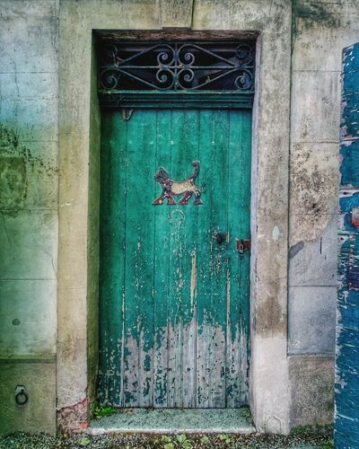 Door Architecture Window Built Structure Building Exterior Day No People Outdoors Multi Colored Close-up Provence Alpes Cote D'azur Architecture Doors And Windows Around The World Doors Lover Green Doors Old Doors Vintage Photo Cats Of EyeEm Cats 🐱 Eyeem Door