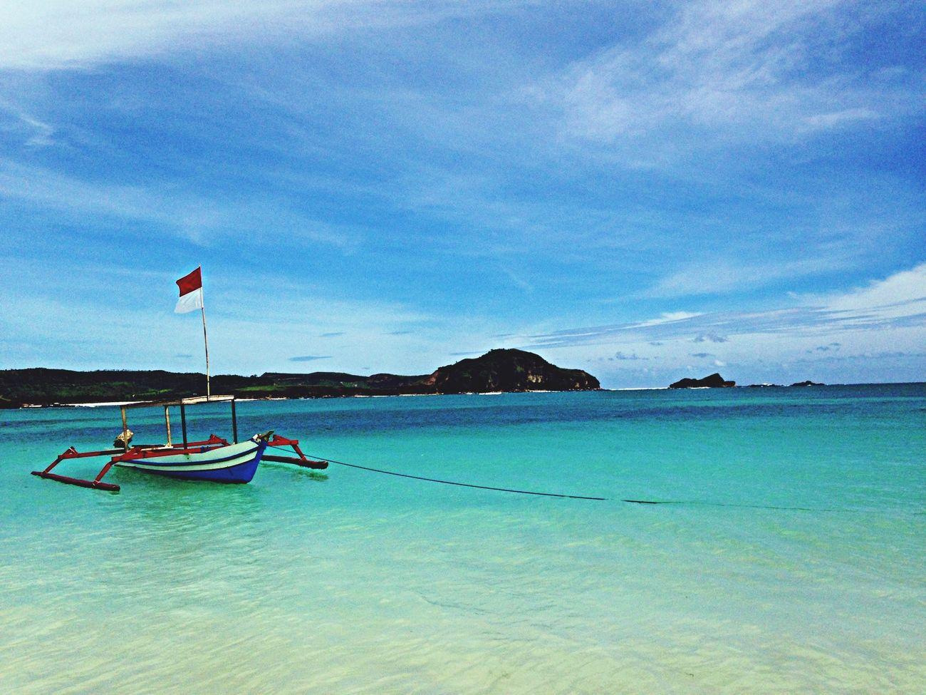 Enjoying The Sun Beach Boat