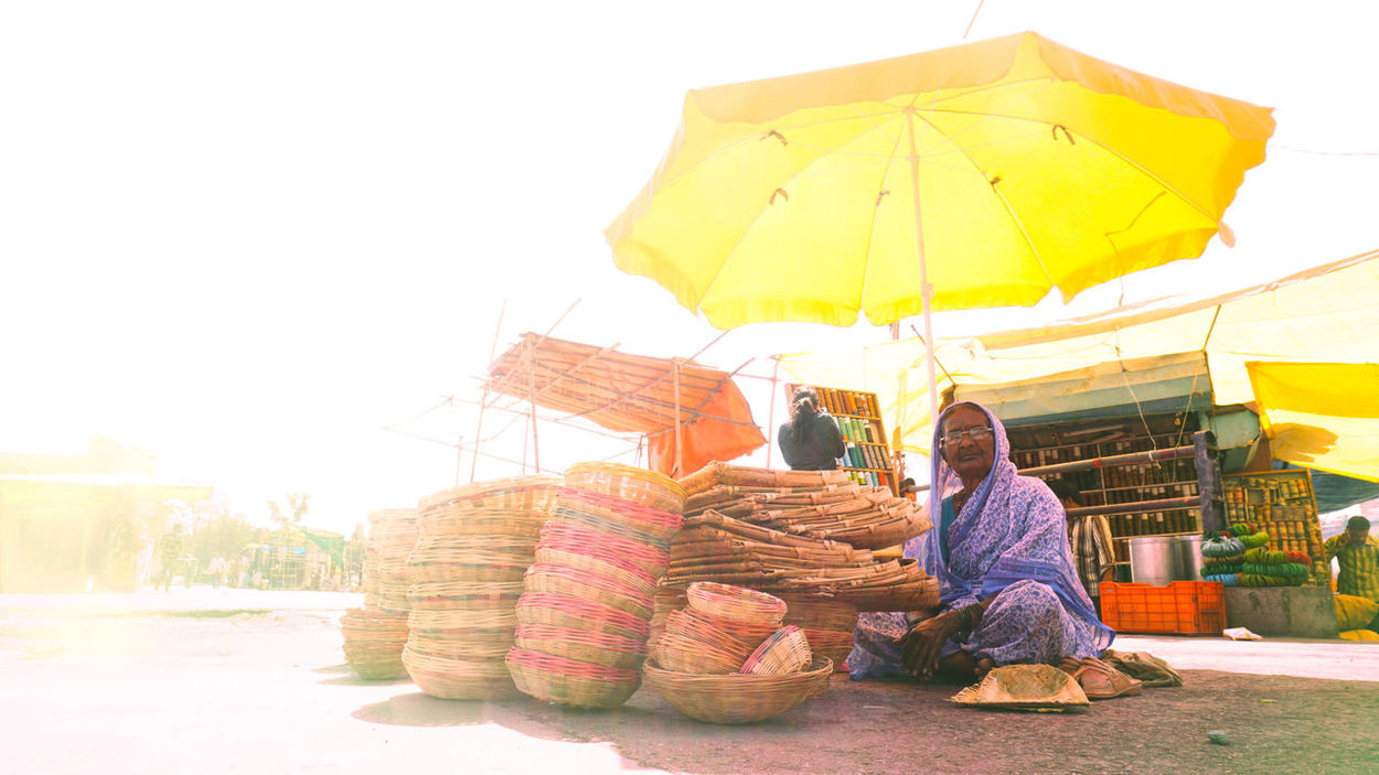 Into the marketAdults Only Yellow Women Two People Relaxation Adult People Sitting Outdoors Smiling Only Women Men Working Sky Nature One Person Lifestyles India_clicks Sonyphotography EyeEm Gallery Nashikdiaries Indian Culture  Indianstories Real People EyeEm Best Shots