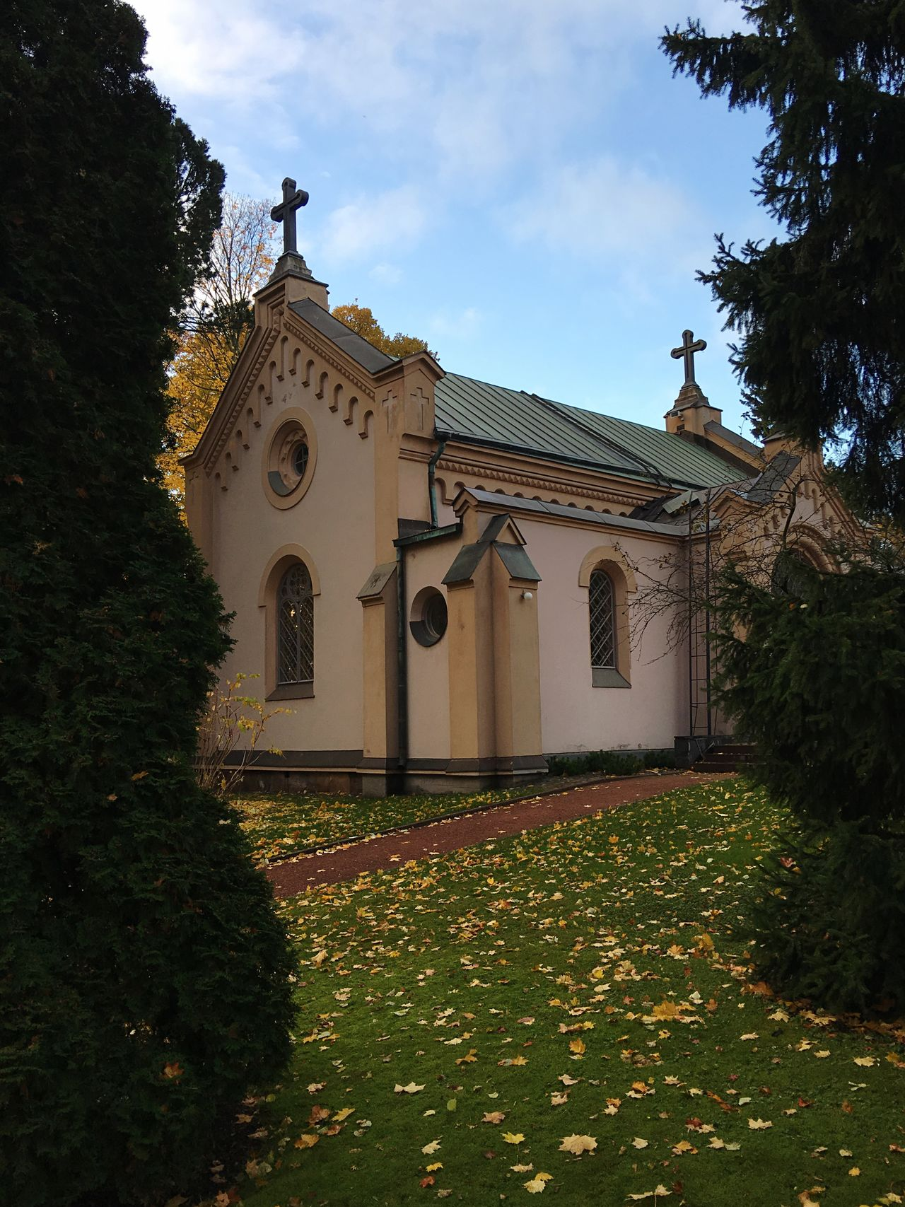 Funeral Chapel In Hietaniemi at Autumn