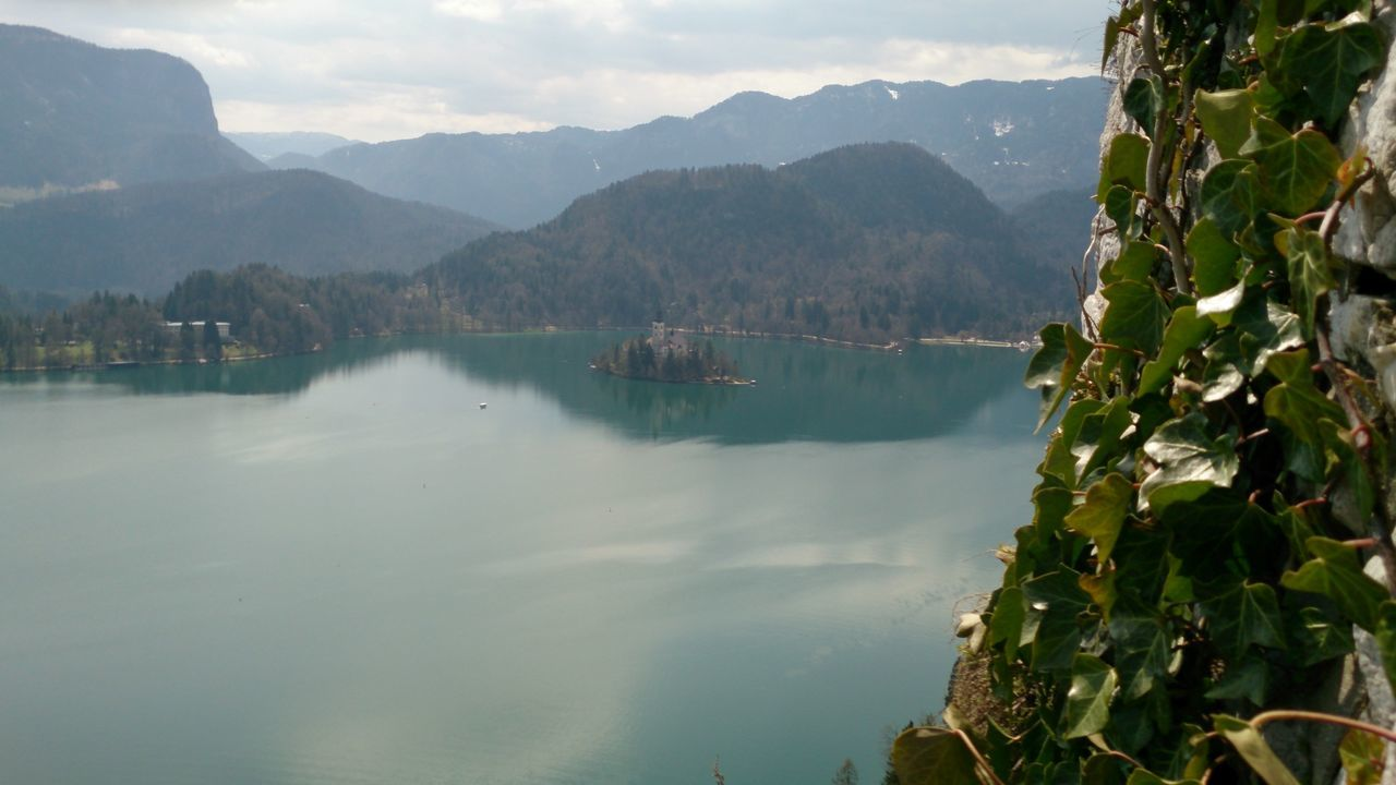 Bled, Slovenia Exploring Island On The Lake Lake Lake Bled Nature Slovenia Vacation View On Church From Castle