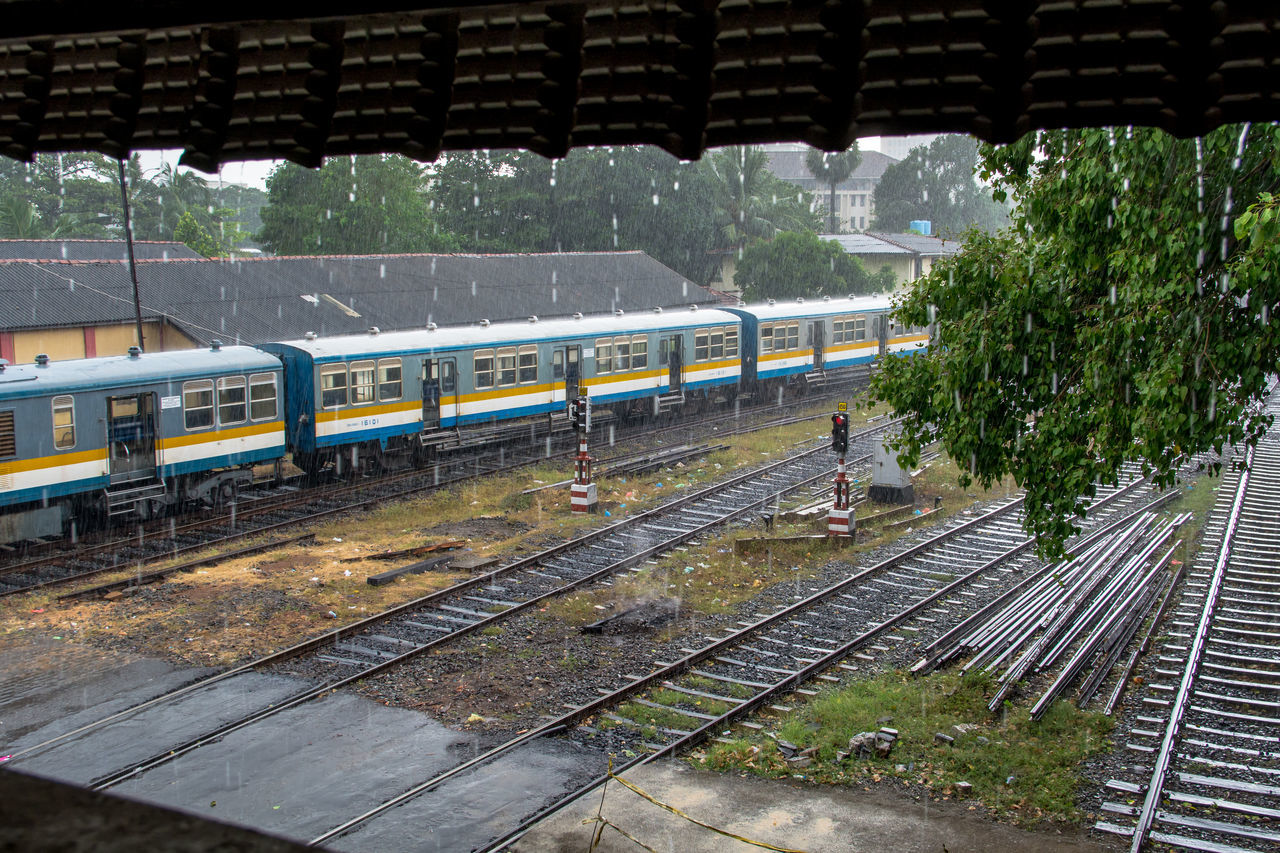 Architecture Built Structure Ceylon Colombo Day English Famous Place Heritage No People Old Outdoors Public Transportation Rail Transportation Railroad Station Railroad Track Raining Sky Sri Lanka Traditional Train Train - Vehicle Train Station Transportation Travel Travel Destinations