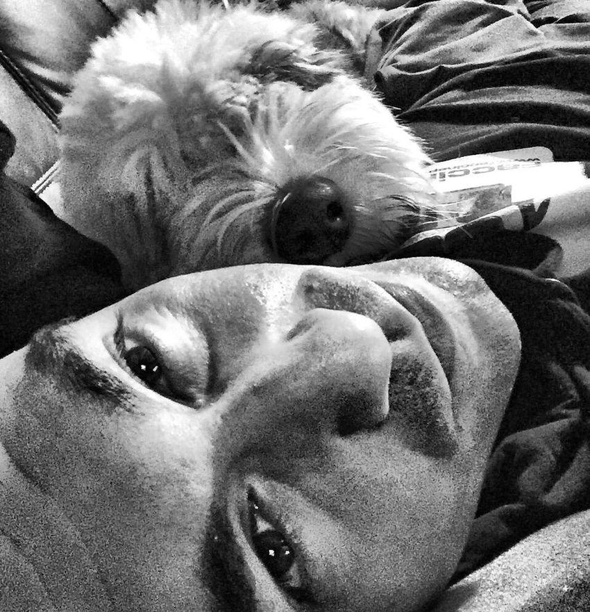 Selfportrait Self Portrait Selfie ✌ Dog Pets Eye4photography  Taking Photos Blackandwhite Bestfriend Friends