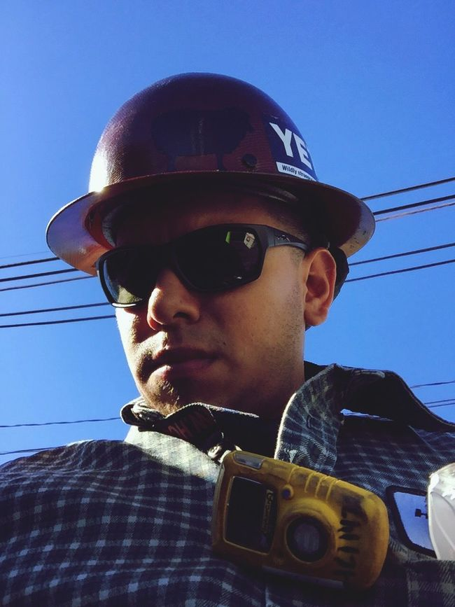 Another day in the office Hardhat  Refinery Texas 12hours Working Headshot