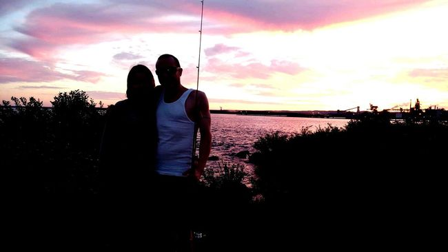 Sunset Fishing With Friends Hanging Out Taking Photos Filter For Faces Beautiful Day Nature Whitefish Island