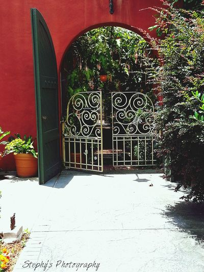 Nature Flowers Colors Of Nature Flowers,Plants & Garden Landscape Gate Reds Doorway