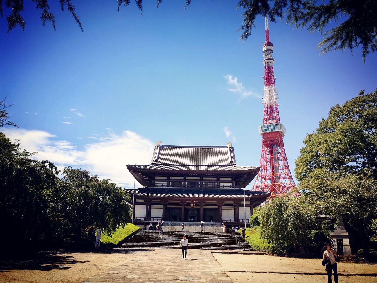 増上寺 東京タワー 芝公園 東京 Tokyo Tokyo Tower Tokyo,Japan Famous Place International Landmark Temple - Building Enjoying Life Hello World