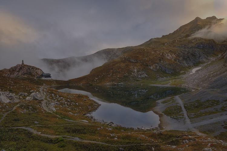 https://it.wikipedia.org/wiki/Lago_Volaia Beauty In Nature Forni Avoltri Italia, Austria Lago Di Volaia Landscape Majestic Mountain Mountain Range Nature Scenics Sky Travel Destinations Udine