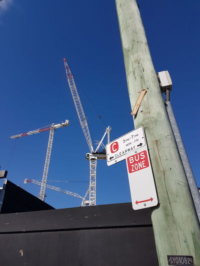 Communication Low Angle View No People Day Text Outdoors Sky Sydney, Australia Streets Of Sydney Skyscraper Crane - Construction Machinery Construction Work Zetland
