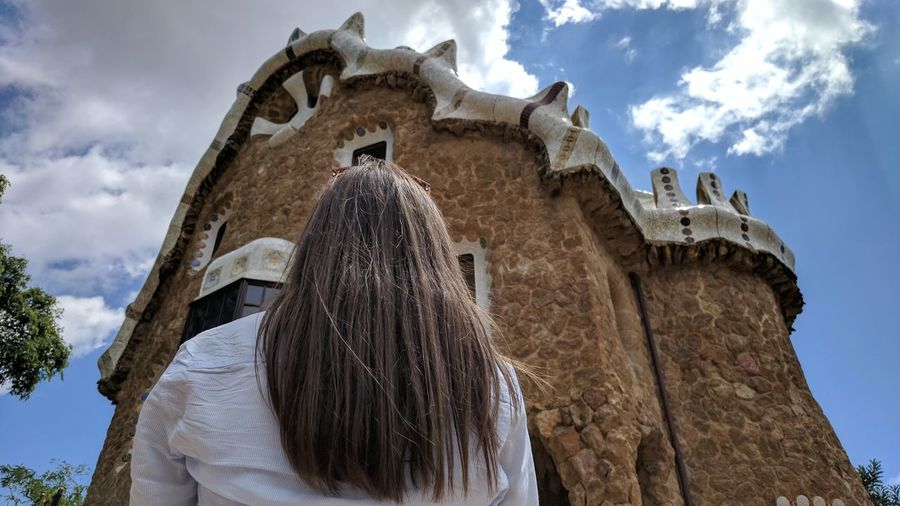 Cloud - Sky Travel Destinations Architecture History Sky Religion Outdoors Old Ruin Low Angle View Blue Built Structure Day Ancient Civilization Building Exterior Beauty No People España🇪🇸 Barcelona Architecture TravelDestinations SPAIN Park Güell, Barcelona Park Guel