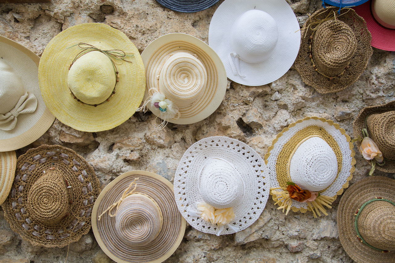 Bowl Cute Day Directly Above Hat Hats High Angle View Indoors  Italian Italy Italy❤️ No People Rustic Shopping Streetphotography Table Wall