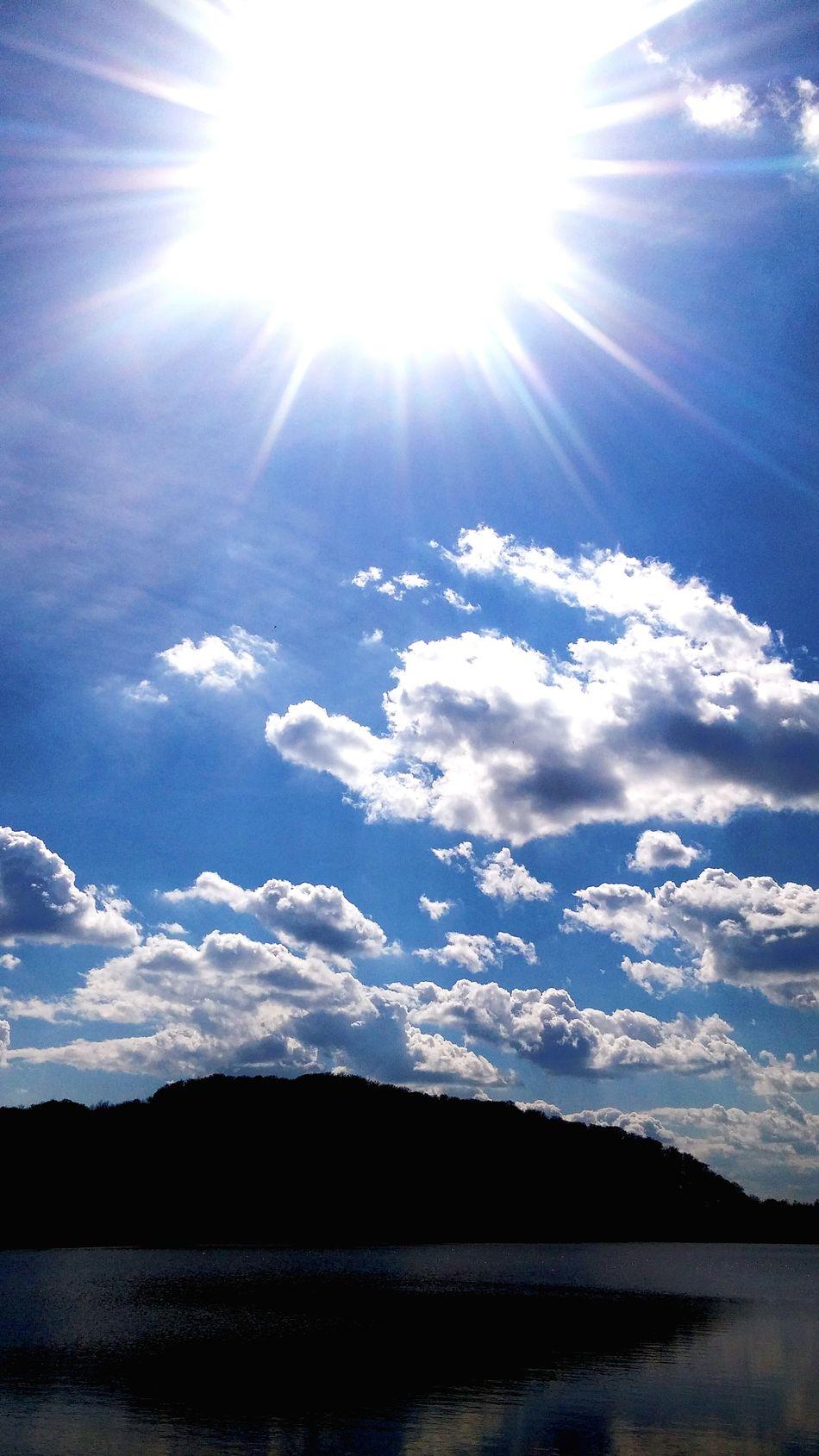 Clouds And Sky Sun Sunshine Sunlight Sunset #sun #clouds #skylovers #sky #nature #beautifulinnature #naturalbeauty #photography #landscape Clouds Cloud And Sky Cloudporn Sky And Clouds Skyporn Sky_collection Teflection Water Reflections