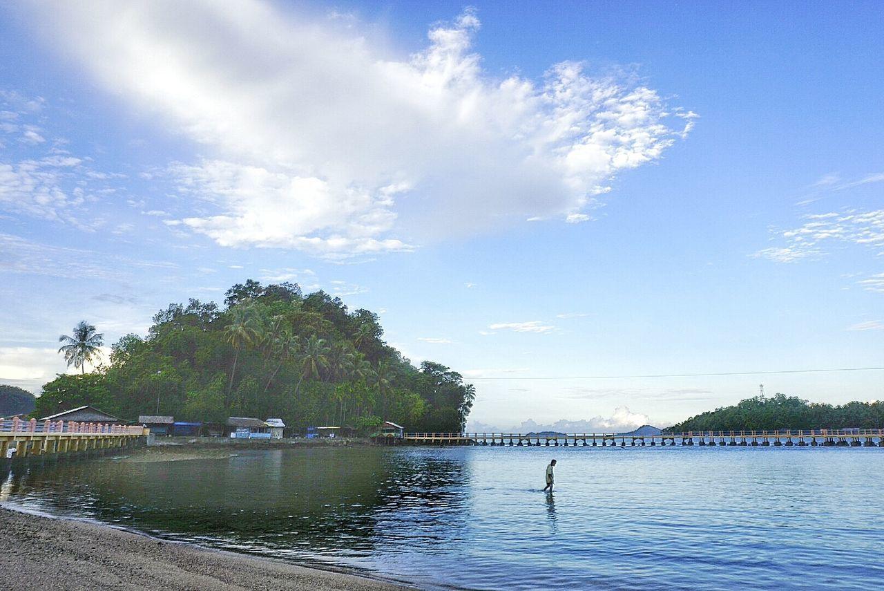 The beach Painan Pantaicerocok Sumbar