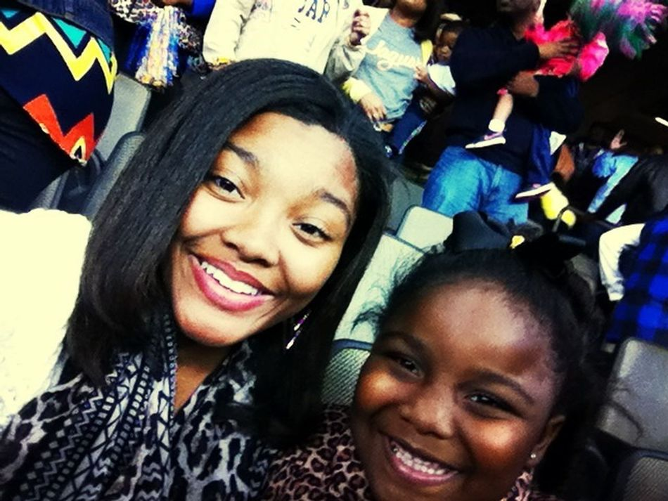 me and my sis at the Bayou Classic !!!! Southern juss won !!! Party Jags Southern Louisiana