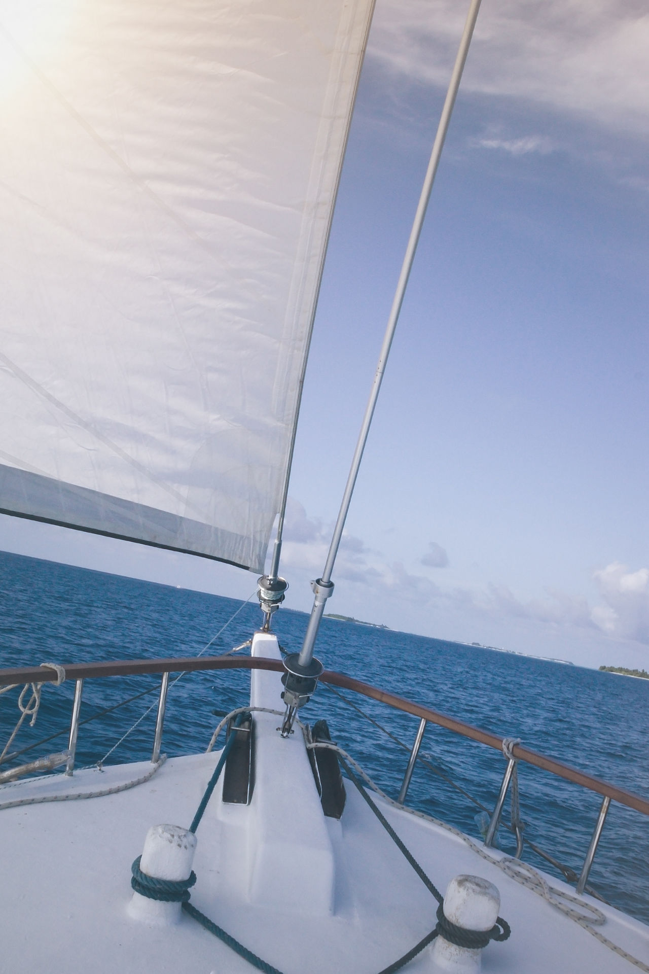 Beauty In Nature Close-up Day Horizon Over Water Mode Of Transport Nature Nautical Vessel No People Ocean Outdoors Sailboat Sailing Sailing Ship Sea Sky Transportation Water Yacht Yachting