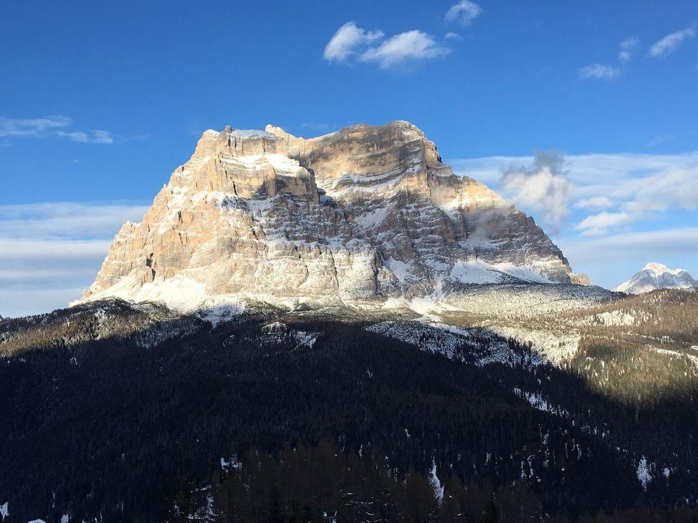 Outdoor Photography Mountains Dolomites, Italy Pelmo Zoldo Snow Cloud Blue Sky