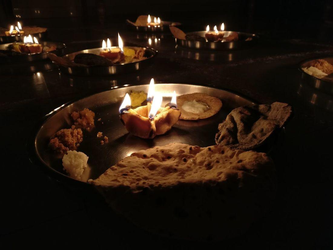 Navratri2016 Family Festivities DiyasForDiwali Lit Illuminated Frommyphone Fire - Natural Phenomenon Nofilter Flame