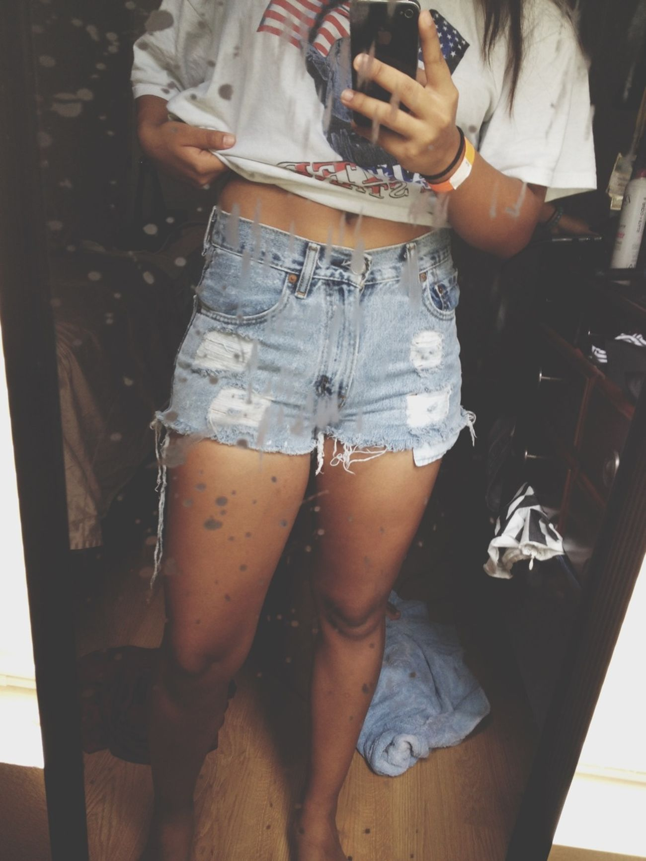 Ugly mirror love these shorts tho