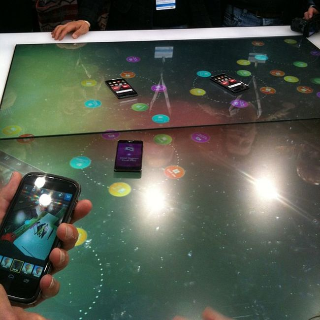 Fancy OptimusLG detection table to share files across devices Mwc2013