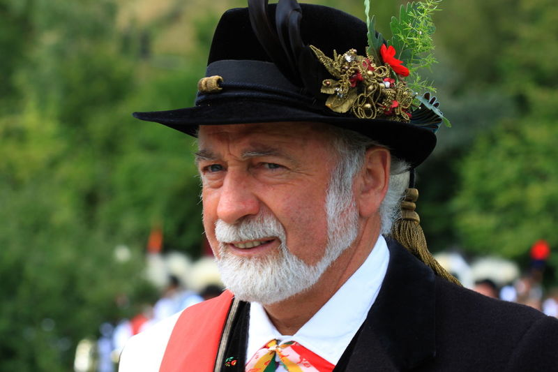 Close-up Fiè Allo Sciliar Hat Headshot Italy Lifestyles Outdoors Red Flower Serious Summer 2016 Südtirol White Beard