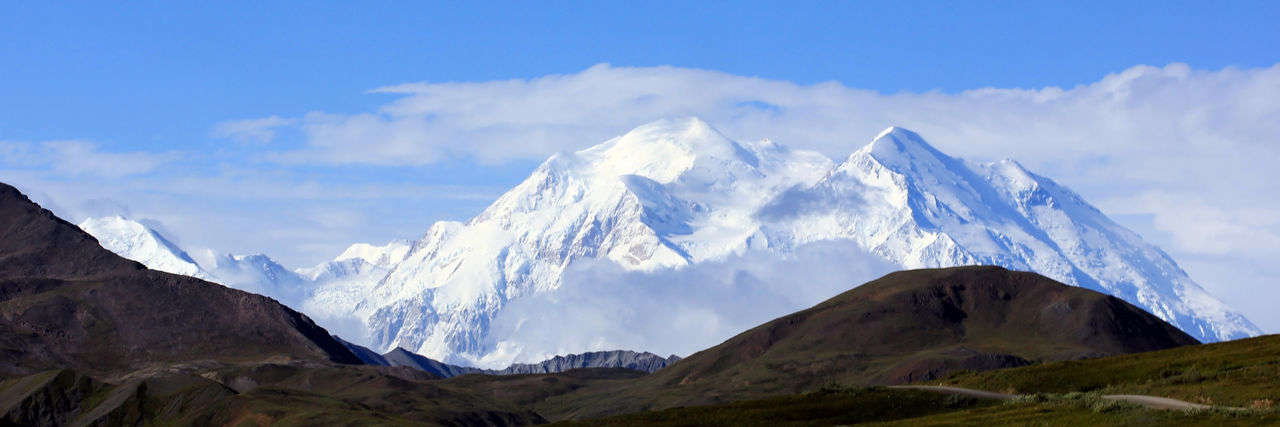 Adventure Alaska Beauty Denali Denali National Park High Up Hiking Ice Landscape Mount Denali Mount McKinley Mountain Mountain Peak Mountain Range Outdoors Sky Snow Tourist Destination