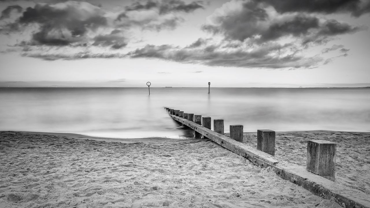 Portobello beach, edinburgh Edinburgh Portobello Beach, Edinburgh Scotland Beach Seaside Shore Water Sand Sky Cloud - Sky Horizon Over Water Sea Tranquil Scene Beauty In Nature Tranquility Scenics Landscape No People Longexposure Blackandwhite
