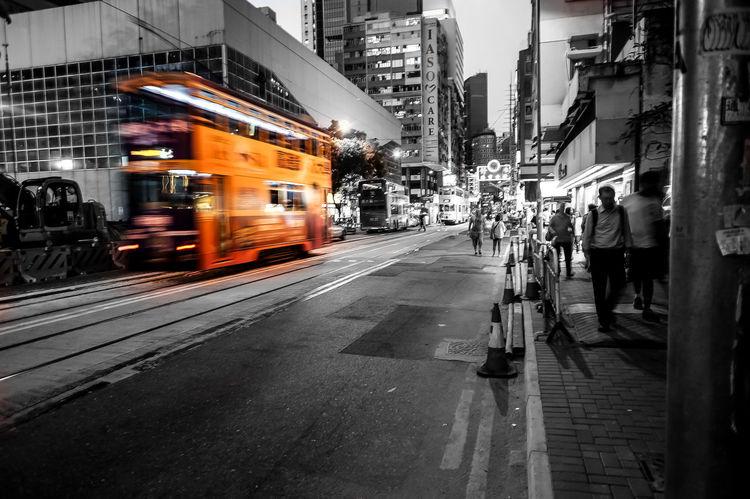 #City #Hong Kong #paint The Town Yellow #blackandwhite #bus #transportation #trip #yellow Paint The Town Yellow