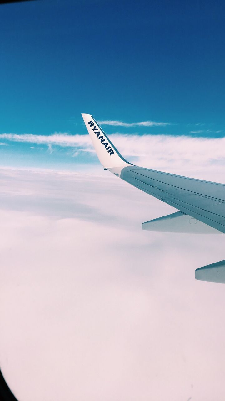 airplane, sky, transportation, journey, airplane wing, cloud - sky, air vehicle, travel, aerial view, no people, blue, nature, day, outdoors, flying, scenics, beauty in nature, close-up