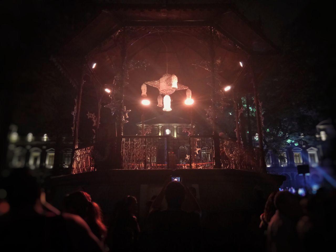 Night Illuminated Full Length Large Group Of People Performance Group People Córdoba Parque  21deMayo 2017 💜to Eyeem