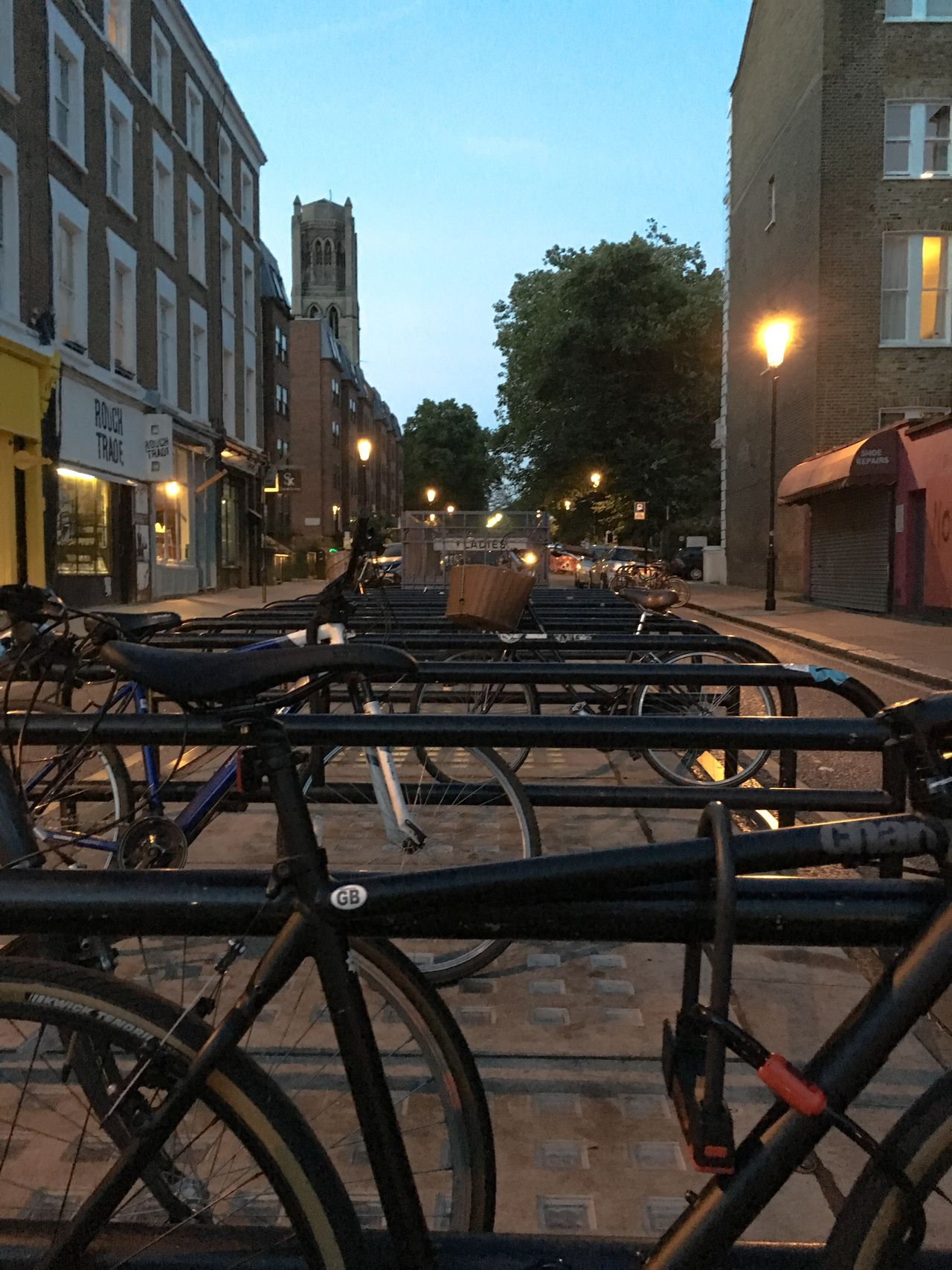 Bicycle stand From My Point Of View London Calling