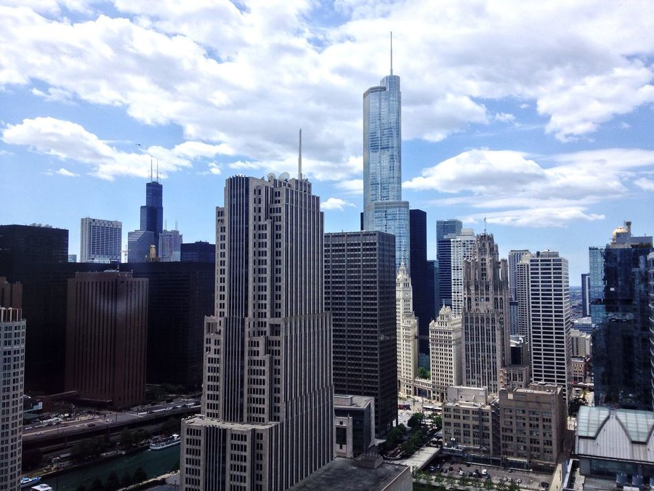 Beautiful stock photos of chicago skyline, Architecture, Building Exterior, Chicago, Cityscape