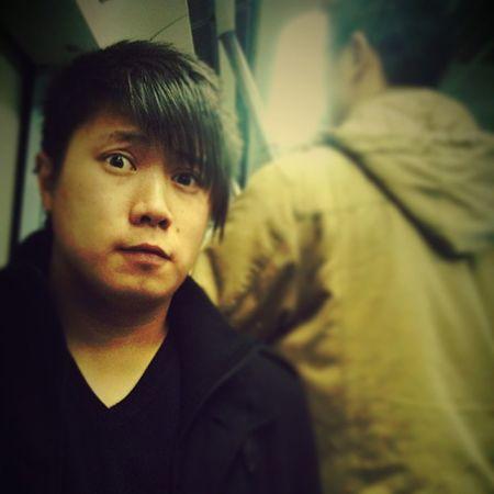 Tall Lanky Chinaman Cnig Beijing Subway