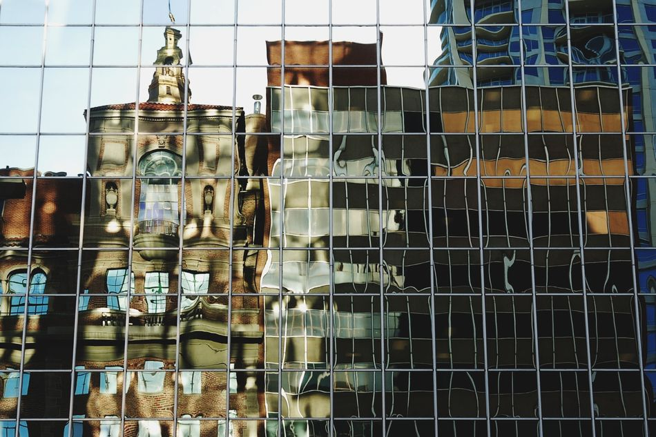 Architecture Building Exterior Built Structure City City Life Cityscape Cityscapes Day Downtown Fresh On Eyeem  Glass Glass Reflection No People Outdoors Reflection Reflection Reflections Sky Window