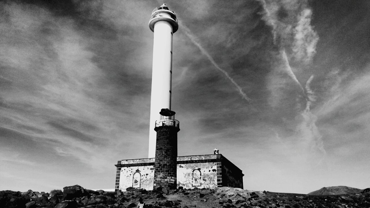 Punta Limones Lanzarote Lighthouse Canary Islands Sky_collection Black And White Black & White Monochrome