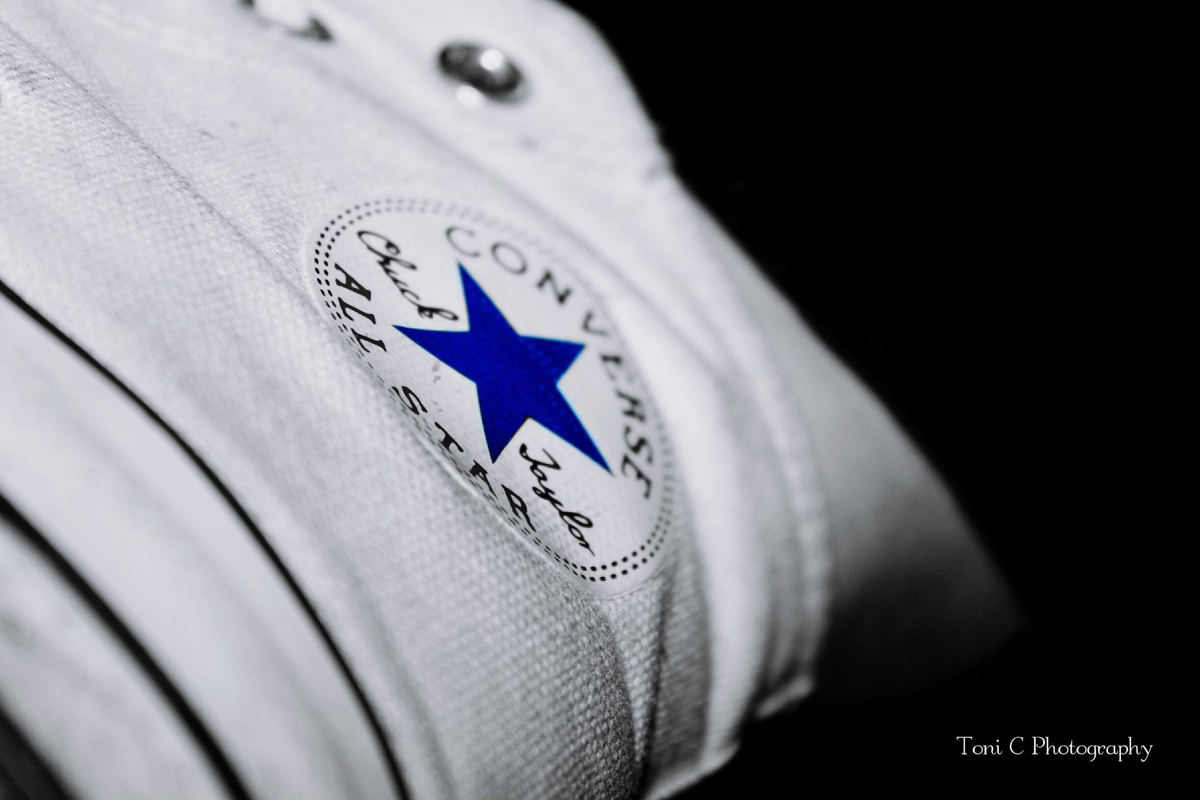 Converse Allstars Shoes Blackandwhitephotography Close-up Bluestar Splash No People Chuck Taylor Sideview Perfectangle