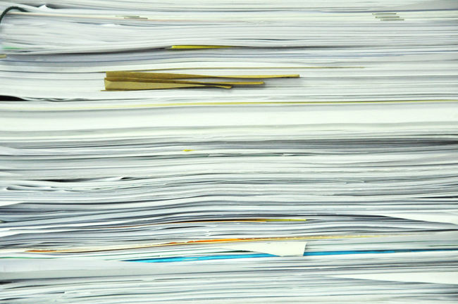 Close Up Stack Of Papers, Books And File A4 Antique Archives Bureaucracy Data Documents File Finance Folder Form Full Frame Information Mess Messy Note Old Outdated Papers Paperwork Pile Research Stacked Stationary Stored Yellowed