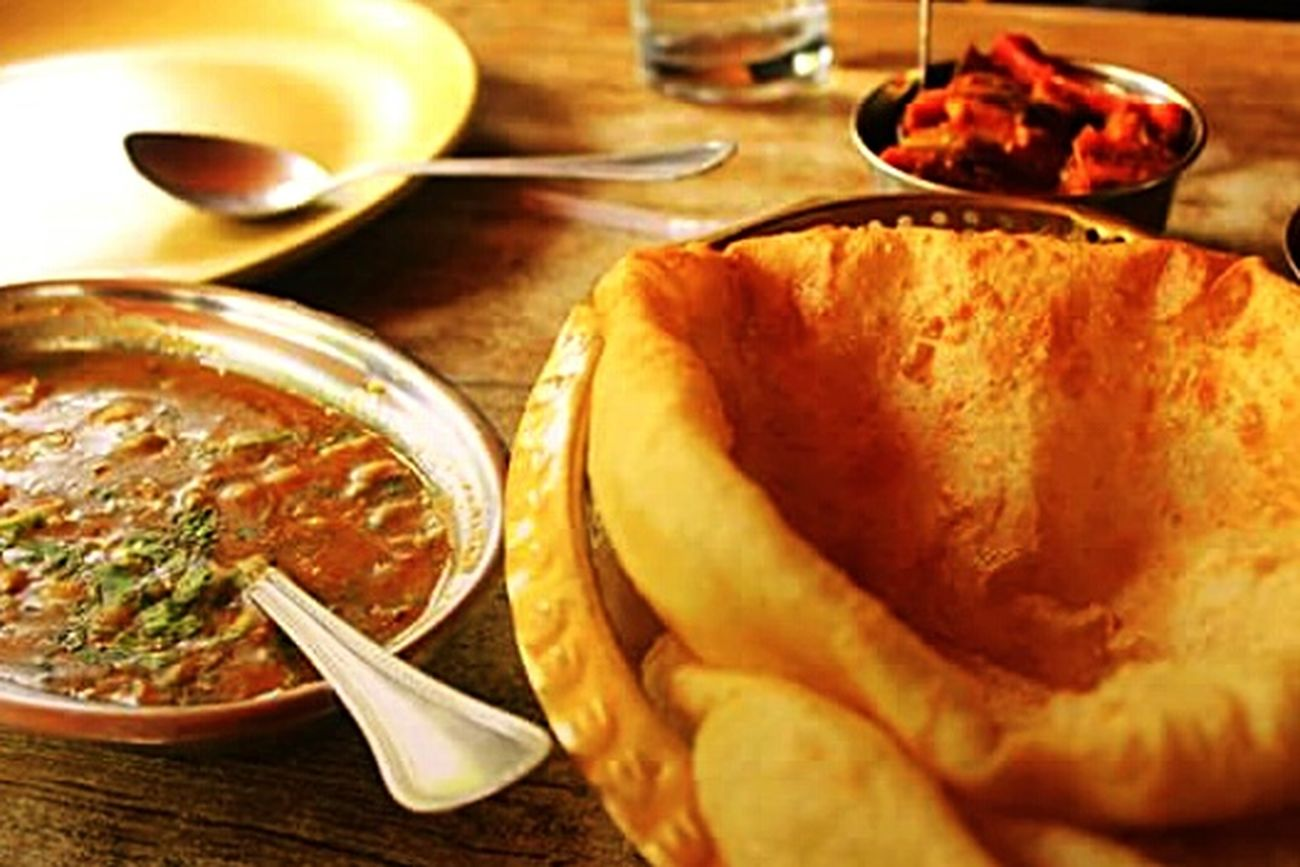 My World Of Food Chole Bhature NotSoManyPeopleAreBraveEnough ToPutThisMuchFat EvenThough Favourite Breakfast Indian Thingy Amritsari