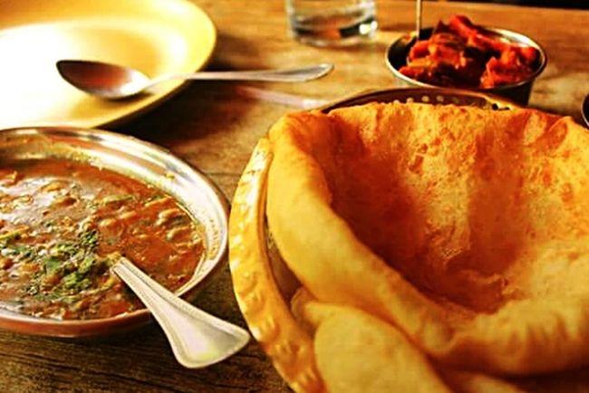 My World Of Food Chole Bhature NotSoManyPeopleAreBraveEnough ToPutThisMuchFat EvenThough Favourite Breakfast Indian Thingy Amritsari